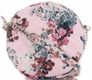 Kabelky Listonošky květinový vzor David Jones Multicolor Růžová