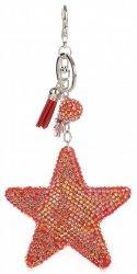 Hvězdička s křišťálky Super Star červená
