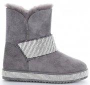 Dámské boty sněhule šedé