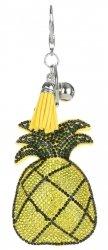 Přívěšek ke kabelce Ananas se zirkony žlutá