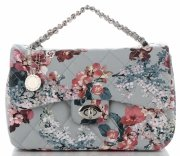 Prošívaná Kabelka Listonoška květinový vzor Diana&Co Multikolor Světle Modrá