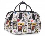 MALÁ cestovní taška kufřík Or&Mi Poštovní známky Multicolor - Bílá