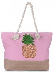 Plážová dámská kabelka Pudrová růžová