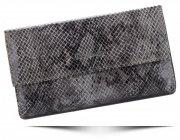 Dámská kožená peněženka Pierre Cardin hadí vzor Šedá