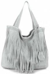 Dámské kabelky Vittoria Gotti Univerzální XL Boho Světle Šedá