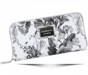 Módní Dámská peněženka Diana&Co Firenze květinový vzor Šedá