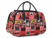 MALÁ cestovní taška kufřík Or&Mi Poštovní známky Multicolor - červená