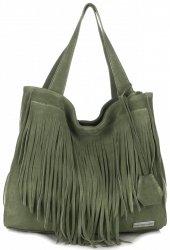 Dámské kabelky Vittoria Gotti Univerzální XL Boho Zelená