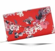 Módní Dámská peněženka Diana&Co Firenze květinový vzor červená