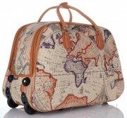 Cestovní taška na kolečkách s výsuvnou teleskopickou rukojetí Or&Mi World Multicolor - Béžová
