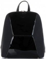Uniwersalne i Eleganckie Plecaczki Damskie firmy David Jones Czarny