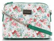 Modna Listonoszka w motyw kwiatów marki Diana&Co Multikolor Żielona