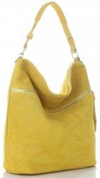 Uniwersalna Torebka Skórzana do noszenia na co dzień Żółta
