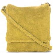 Uniwersalne Torebki Skórzane Listonoszki Vittoria Gotti wykonane w całości z Zamszu Naturalnego Żółta