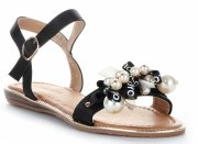 Sandały Damskie z koralikami Czarne