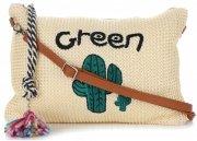 Torebki Damskie Listonoszki we wzór kaktusa firmy David Jones Beżowa