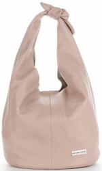 Vittoria Gotti Made in Italy Modny Shopper XL z Kosmetyczką Uniwersalna Torba Skórzana na co dzień Pudrowy Róż