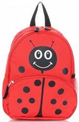 Plecaczki Dla Dzieci do Przedszkola firmy Madisson Biedronka Multikolor - Czerwony