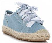 Stylowe Espadryle Damskie Tenisówki marki Bellucci Jasny Jeans