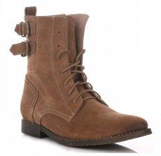 Kožené Dámské boty hnědý
