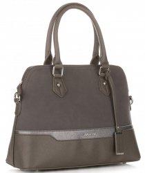Elegantní Dámská kabelka kufřík David Jones Tmavě Šedá