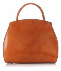 Kožená kabelka kufřík s možností rozšíření zrzavý