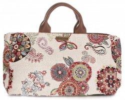 Univerzální kožená italská kabelka Vittoria Gotti Folk Multicolor