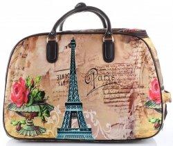 Cestovní taška na kolečkách s výsuvnou rukojetí Paris&Flowers Or&Mi multicolor béžová
