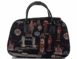 MALÁ cestovní taška kufřík Or&Mi Royal Multicolor - černá