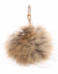 Přívěšek ke kabelce Pompon z přírodního vlasu mýval hnědá