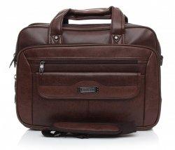 Prostorná taška Orm&Mi Laptop hnědá