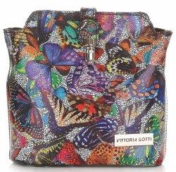 Listonoszki Skórzane Vittoria Gotti w Motyle Multikolor Czarna