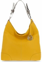 Vittoria Gotti Made in Italy Firmowa Torebka Skórzana na każdą okazję Żółta