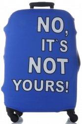 Pokrowiec na Walizkę firmy Snowball w rozmiarze M No its not yours Niebieski