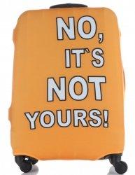 Pokrowiec na Walizkę firmy Snowball w rozmiarze M No its not yours Pomarańcz