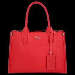 Vittoria Gotti Klasyczny Kuferek Skórzany Made in Italy Czerwony