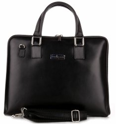 VITTORIA GOTTI kožené kabelky vyrobené v Taliansku Dámske Aktovky A4 čierne