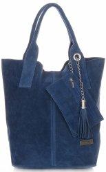 Vittoria Gotti ShopperBag XL originálne semišové vysoko kvalitné džínsové kožené tašky