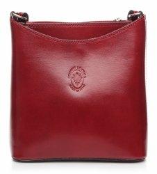 Messenger taška z pravej kože červená
