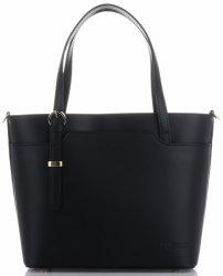 Vittoria Gotti klasická a elegantná Kožená taška čierna