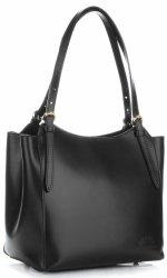 Klasická Kožená taška od Vittoria Gotti čierny