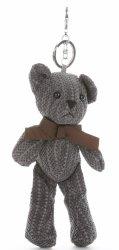 Kľúčenka pre tašky medvedík šedý