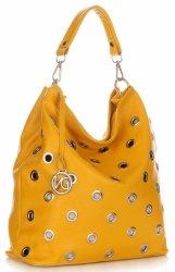 Módne talianske kožené kabelky od Vittoria Gotti žltý