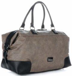 Elegantné a odolné cestovné tašky od David Jones khaki