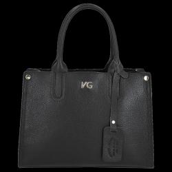 Vittoria Gotti klasické kožené puzdro vyrobené v Taliansku čierne