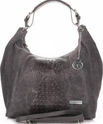 Univerzálna Kožená taška VITTORIA GOTTI Aligator Grey