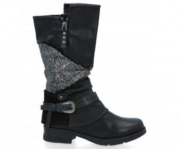 Černé módní dámské boty Selena