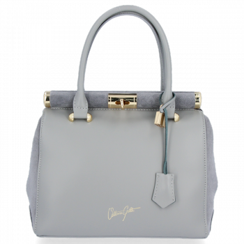 Kožené kabelky kufříky VITTORIA GOTTI Světle šedá