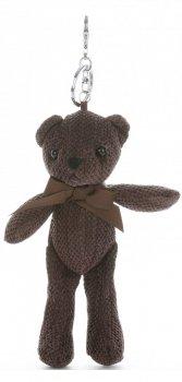 Přívěšek ke kabelce Plyšový medvídek čokoláda