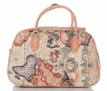 STŘEDNÍ cestovní taška kufřík Or&Mi World Multicolor - béžová